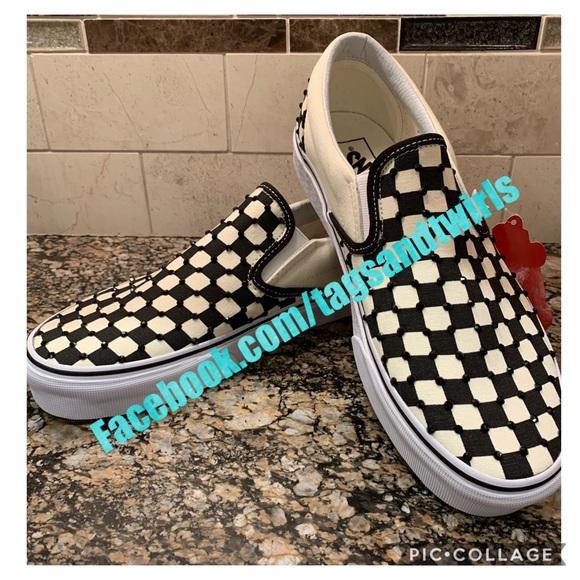 47e9a8d617ee4 NWT Custom Vans Checkerboard Black Crystals Boutique